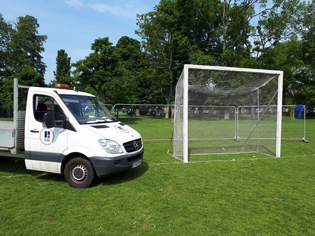 Blake Group van with football goals