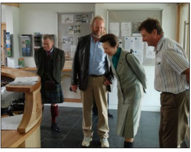 Princess Anne at the opening of 'An Crindhe' on the Isle of Coll.