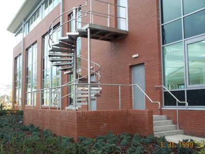 steel fabricators - external spiral staircase