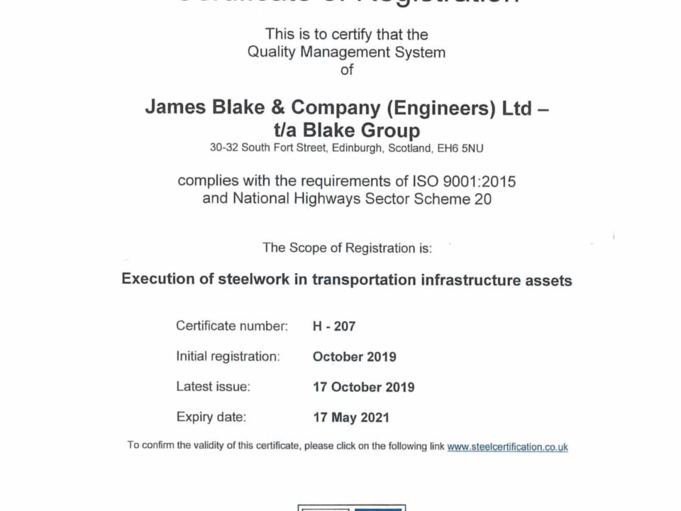 Steel Construction Certification Scheme NHSS20