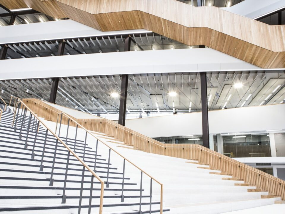 Entry stairs at City of Glasgow College by Blake Group