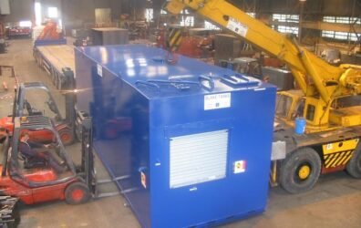 Totally Enclosed Bunded Unit' (TEBU) tank for Rolls Royce