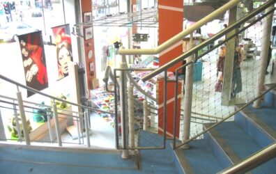 New steel staircase by Blake Group at Urban Outfitters - retail fit out