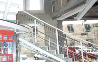 New steel staircase by Blake Group at Urban Outfitters