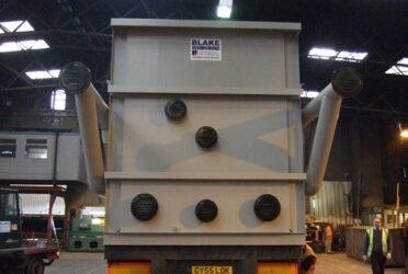End view of Wyman Gordon Steel Quench Tank by Blake Group Edinburgh
