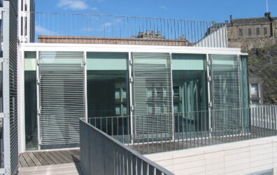 Architectural steel external screening and railings by Blake Group