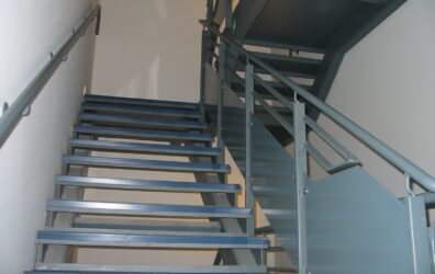 Internal stairs at Platinum Point in Leith by Blake Group