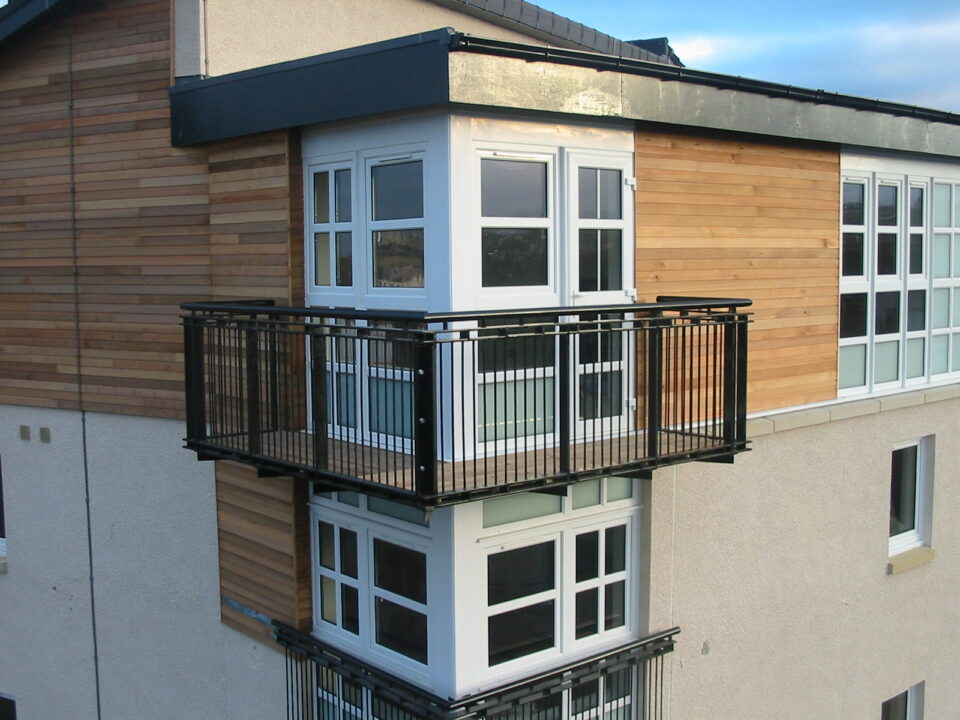 Barratt Homes, The Spectrum - black steel balconies by Blake Group