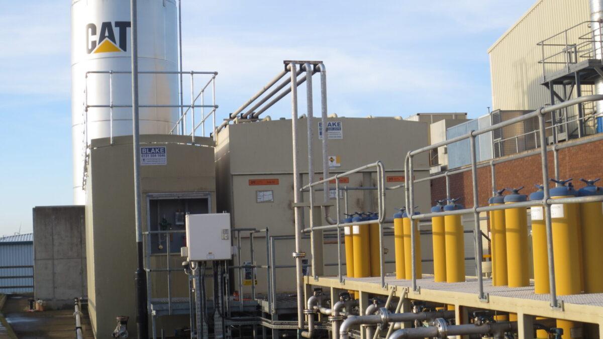 Steel storage tanks by Blake Group at Caterpillar Peterlee