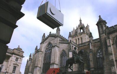 Part of air duct plenum for Scottish Parliament