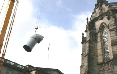 'lobster back' air system component for Scottish Parliament