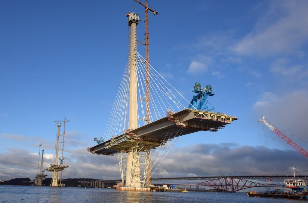 The Queensferry crossing during construction