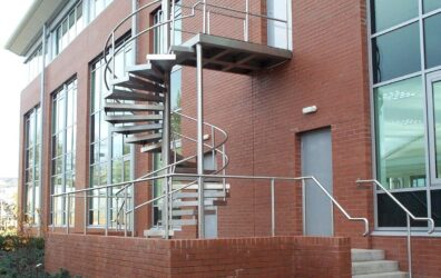Blake group external steel staircase for BAM Construction office development