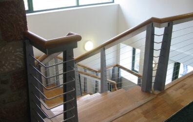 Stair Balustrade Solid bar corners